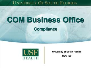 COM Business Office  Compliance