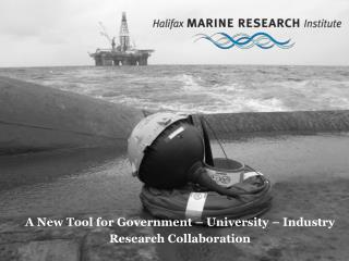 A New Tool for Government – University – Industry Research Collaboration