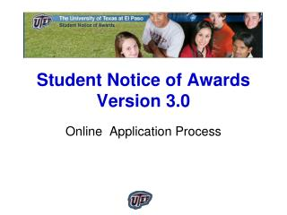 Student Notice of Awards  Version 3.0