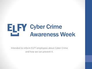 Cyber Crime Awareness Week