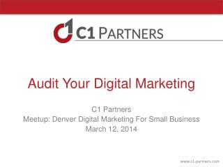 Audit Your Digital Marketing