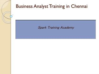 Business Analyst Training in Chennai