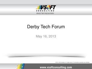 Derby Tech Forum