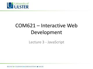 COM621 – Interactive Web Development