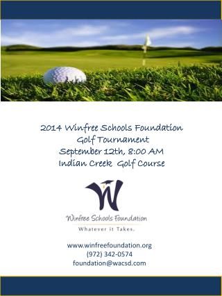 www.winfreefoundation.org (972) 342-0574 foundation@wacsd.com
