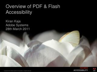 Overview of PDF & Flash Accessibility