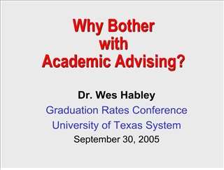 Why Bother with Academic Advising
