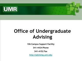 Office of Undergraduate Advising