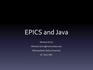 EPICS and Java