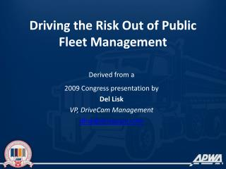 Driving the Risk Out of Public Fleet Management