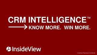 CRM INTELLIGENCE ™                 KNOW MORE.  WIN MORE.