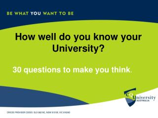 How well do you know your University?