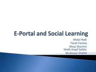 E-Portal and Social Learning