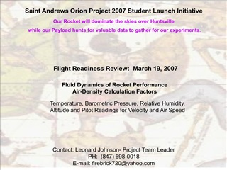 St. Andrews Orion Project FRR Powerpoint