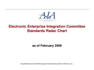 Electronic Enterprise Integration Committee Standards Radar Chart