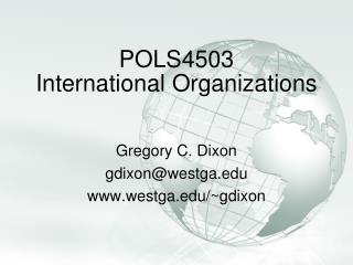 POLS4503 International Organizations