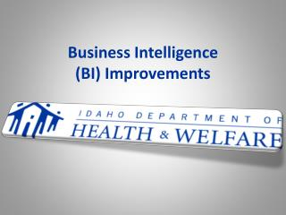 Business Intelligence  ( BI)  Improvements