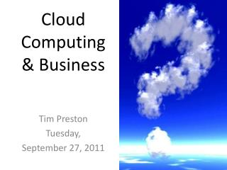 Cloud Computing & Business