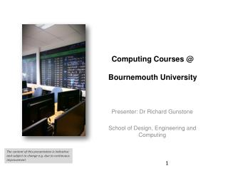 Computing Courses @  Bournemouth University