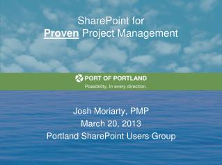 SharePoint for  Proven  Project Management