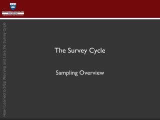 The Survey Cycle