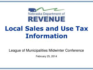 Local Sales and Use Tax Information