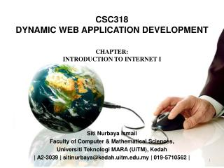CSC318 DYNAMIC  WEB APPLICATION DEVELOPMENT
