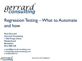 Regression Testing – What to Automate and how