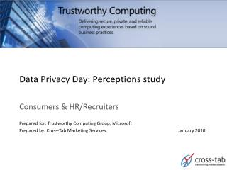 Data Privacy Day: Perceptions study