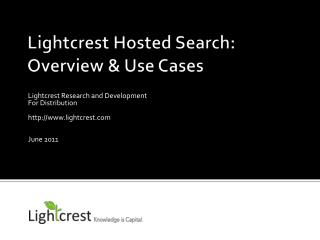 Lightcrest Hosted Search: Overview & Use Cases