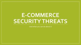 E-Commerce Security Threats
