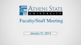 Faculty/Staff Meeting