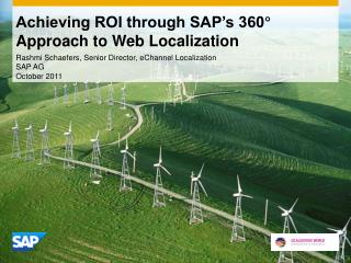 Achieving ROI through SAP's 360° Approach to Web Localization
