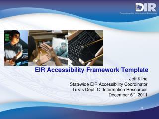 EIR Accessibility Framework Template