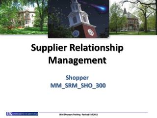Supplier Relationship Management Shopper   MM_SRM_SHO_300
