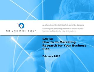 SARTA:  How  to do Marketing Research for Your Business Plan.