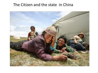 The Citizen and the state  in China