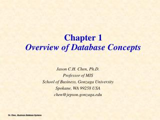 Chapter 1 Overview of Database Concepts
