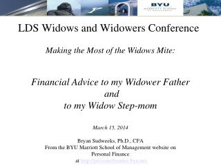 LDS Widows and Widowers Conference