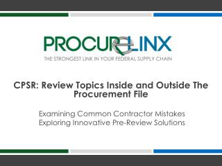 Examining Common Contractor Mistakes           Exploring Innovative Pre-Review Solutions