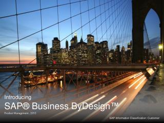 Introducing SAP® Business  ByDesign ™ Product Management , 2013