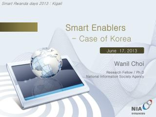 Smart Enablers in Korea