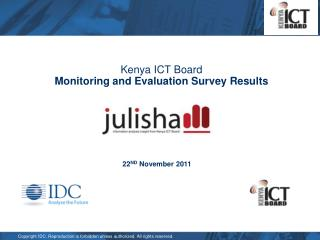 Kenya ICT Board  Monitoring and Evaluation Survey Results
