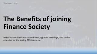 The Benefits of joining Finance Society