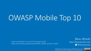 OWASP Mobile Top 10