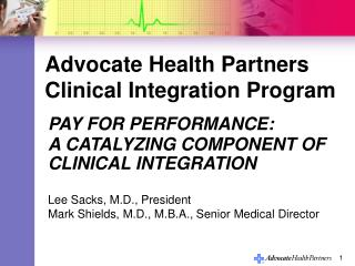 Advocate Health Partners Clinical Integration Program
