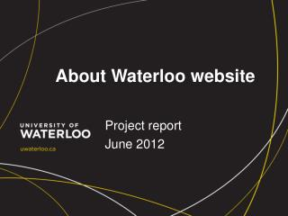 About Waterloo website
