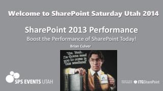 SharePoint 2013 Performance Boost the Performance of SharePoint Today!