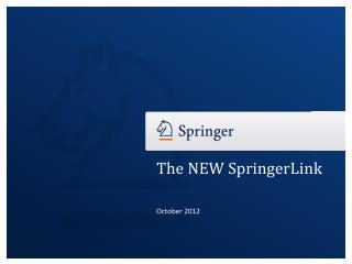 The NEW SpringerLink
