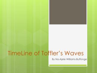 TimeLine of Toffler's Waves